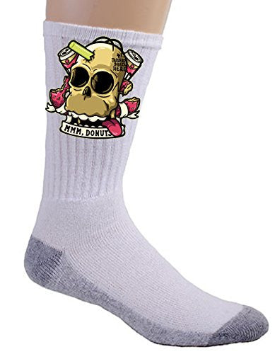 'Insert Brain Here' Cartoon Parody - Crew Socks