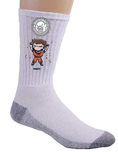'Spirit Bomb' Cartoon & Video Game Parody - Crew Socks