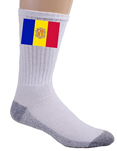 Andorra - World Country National Flags - Crew Socks