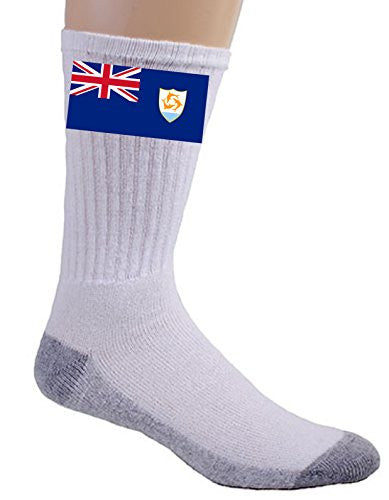 Anguilla - World Country National Flags - Crew Socks