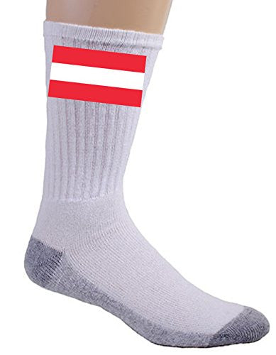 Austria - World Country National Flags - Crew Socks