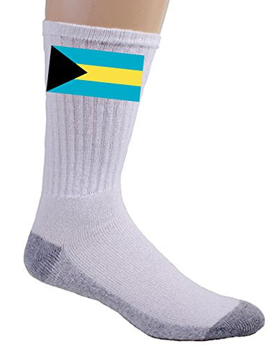 The Bahamas - World Country National Flags - Crew Socks