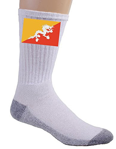Bhutan - World Country National Flags - Crew Socks
