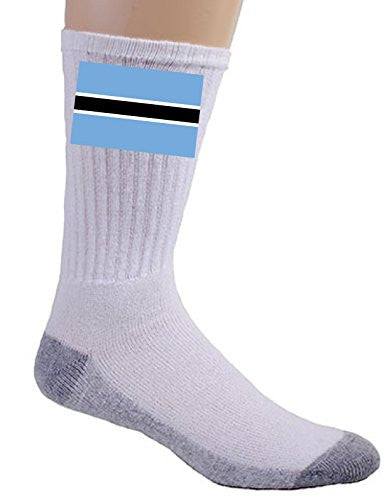 Botswana - World Country National Flags - Crew Socks