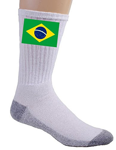 Brazil - World Country National Flags - Crew Socks