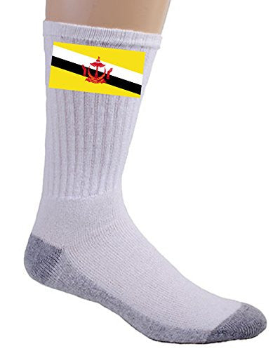 Brunei - World Country National Flags - Crew Socks