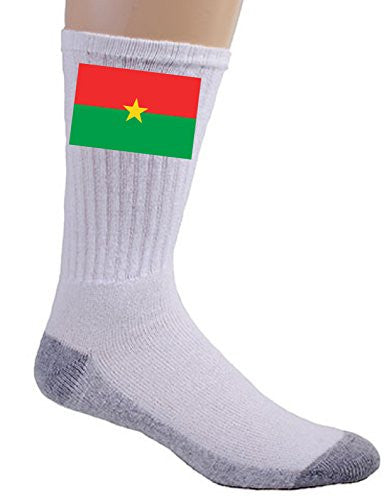 Burkina Faso - World Country National Flags - Crew Socks