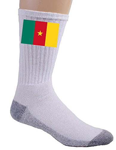 Cameroon - World Country National Flags - Crew Socks