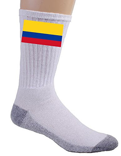 Colombia - World Country National Flags - Crew Socks