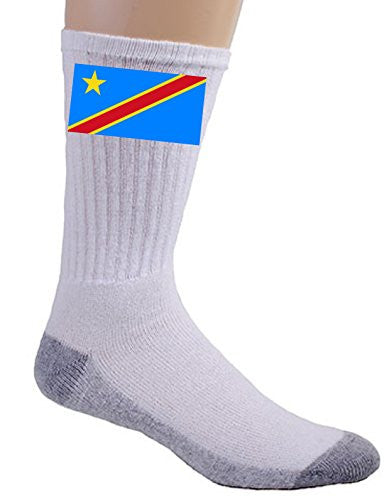 Democratic Republic of the Congo - World Country National Flags - Crew Socks