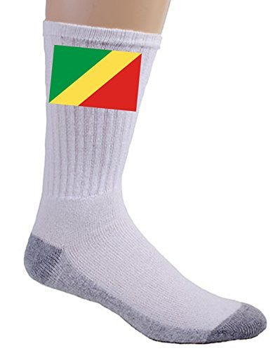 Republic of the Congo - World Country National Flags - Crew Socks