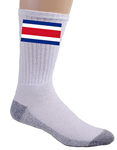 Costa Rica - World Country National Flags - Crew Socks