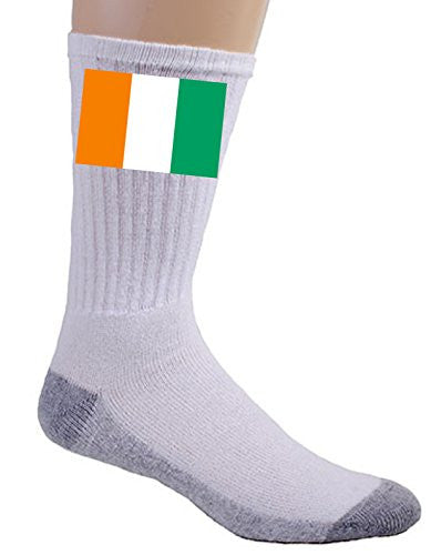 Cote d'Ivoire (Ivory Coast) - World Country National Flags - Crew Socks