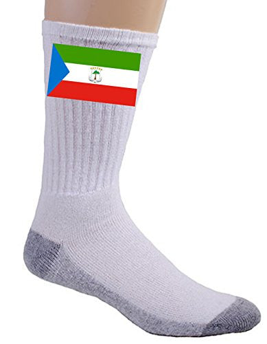 Equatorial Guinea - World Country National Flags - Crew Socks
