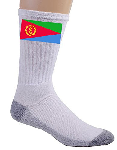 Eritrea - World Country National Flags - Crew Socks