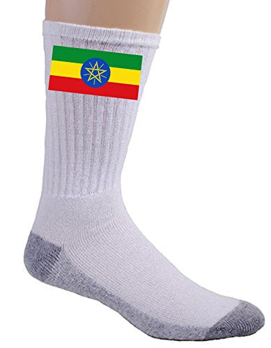 Ethiopia - World Country National Flags - Crew Socks