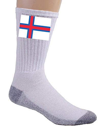 Faroe Islands - World Country National Flags - Crew Socks