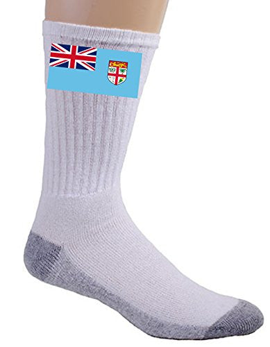 Fiji - World Country National Flags - Crew Socks