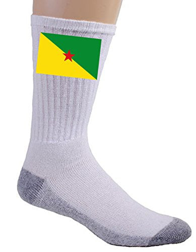 French Guiana - World Country National Flags - Crew Socks