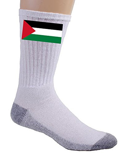 Gaza Strip (Palestine) - World Country National Flags - Crew Socks