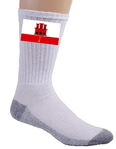 Gibraltar - World Country National Flags - Crew Socks