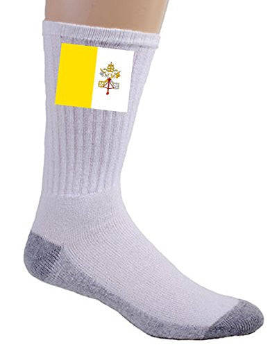Holy See (Vatican City) - World Country National Flags - Crew Socks