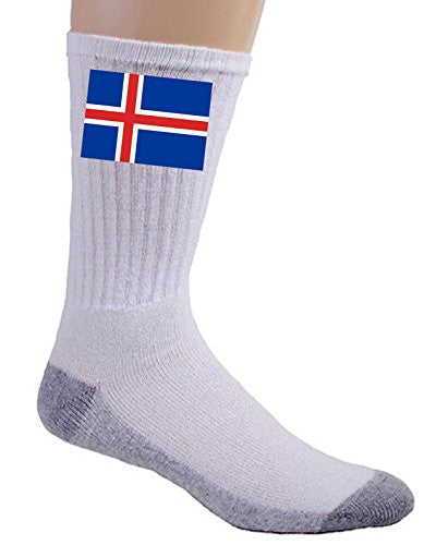 Iceland - World Country National Flags - Crew Socks