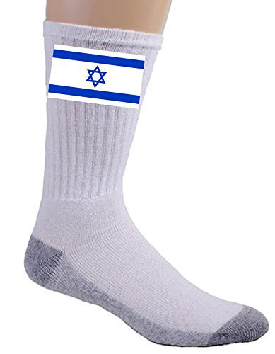 Israel - World Country National Flags - Crew Socks