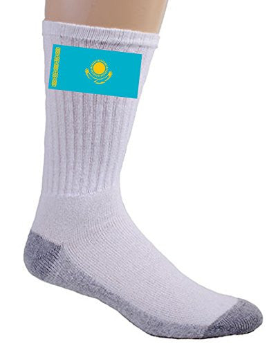 Kazakhstan - World Country National Flags - Crew Socks