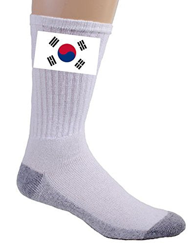South Korea - World Country National Flags - Crew Socks