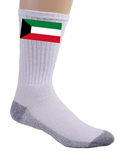 Kuwait - World Country National Flags - Crew Socks