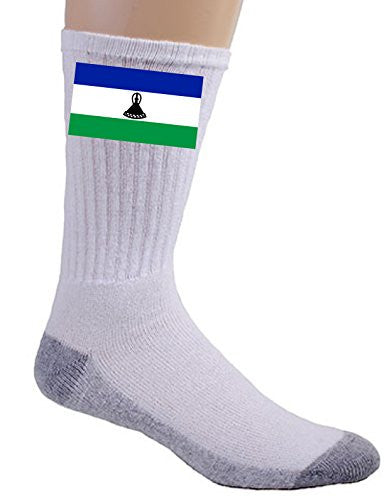 Lesotho - World Country National Flags - Crew Socks