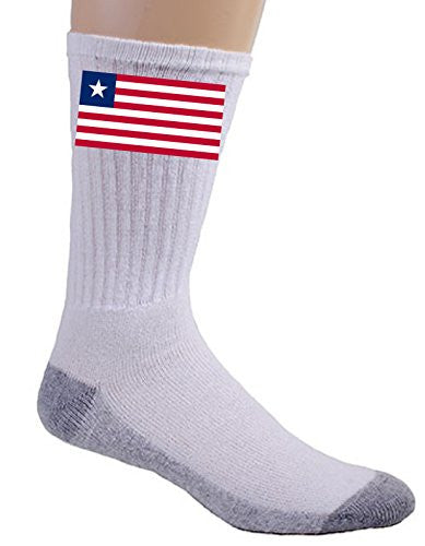 Liberia - World Country National Flags - Crew Socks