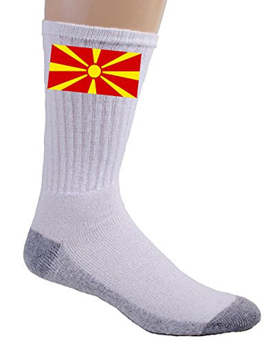 Macedonia - World Country National Flags - Crew Socks