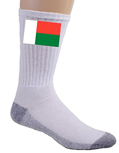 Madagascar - World Country National Flags - Crew Socks