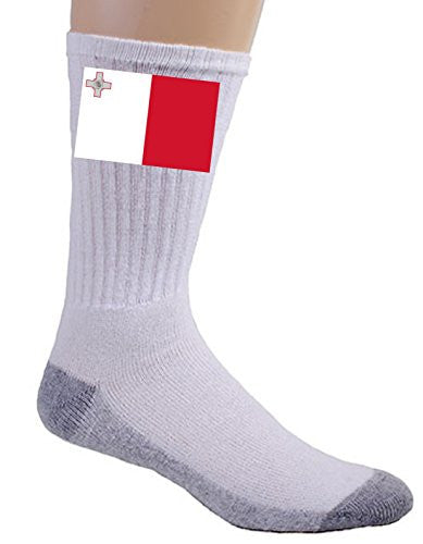 Malta - World Country National Flags - Crew Socks