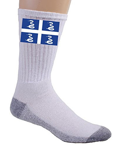 Martinique - World Country National Flags - Crew Socks