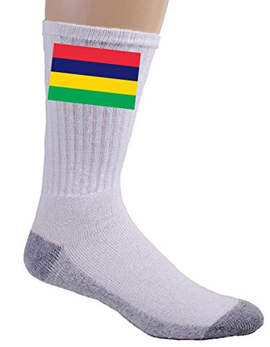 Mauritius - World Country National Flags - Crew Socks