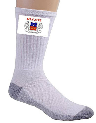 Mayotte - World Country National Flags - Crew Socks
