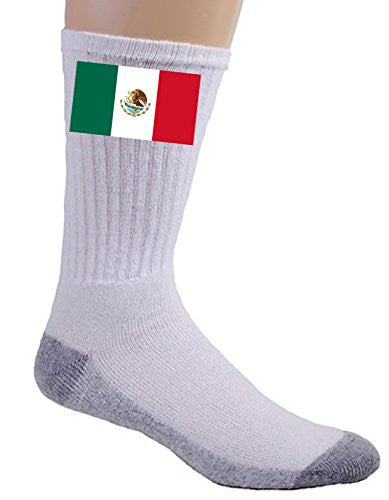 Mexico - World Country National Flags - Crew Socks