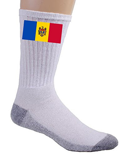 Moldova - World Country National Flags - Crew Socks