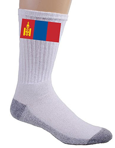 Mongolia - World Country National Flags - Crew Socks