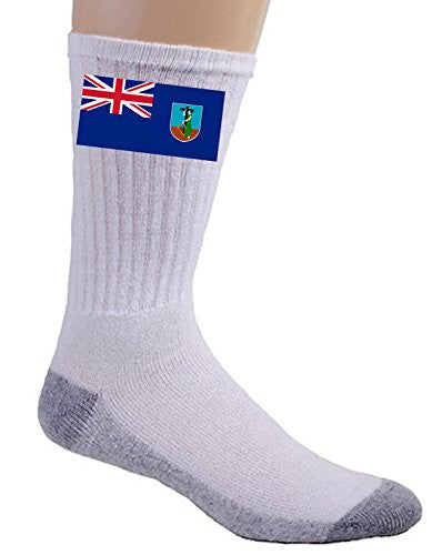 Montserrat - World Country National Flags - Crew Socks
