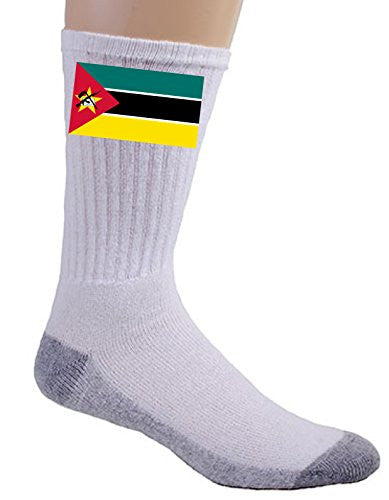 Mozambique - World Country National Flags - Crew Socks