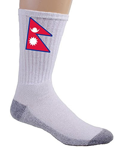 Nepal - World Country National Flags - Crew Socks