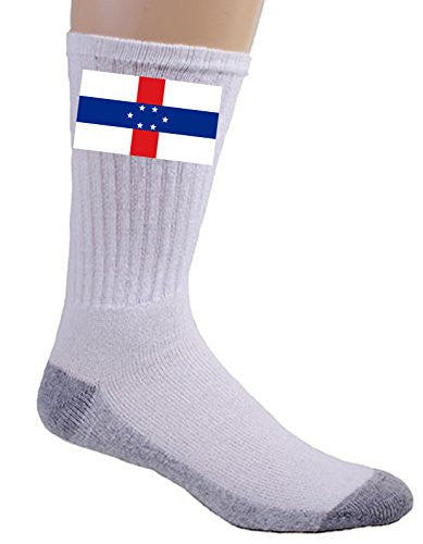 Netherlands Antilles - World Country National Flags - Crew Socks