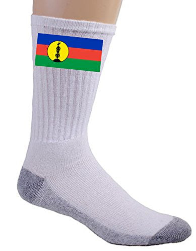 New Caledonia - World Country National Flags - Crew Socks