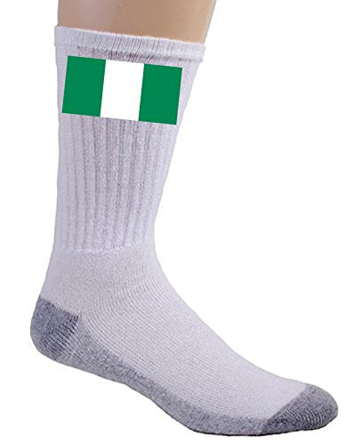 Nigeria - World Country National Flags - Crew Socks