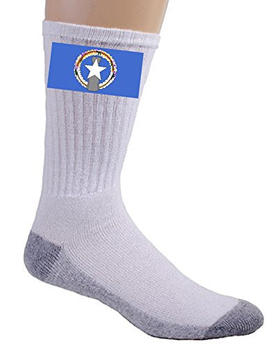 Northern Mariana Islands - World Country National Flags - Crew Socks