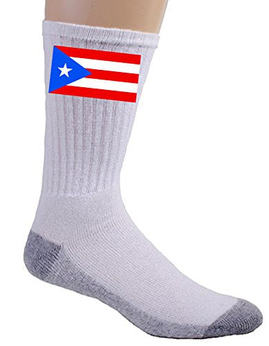 Puerto Rico - World Country National Flags - Crew Socks